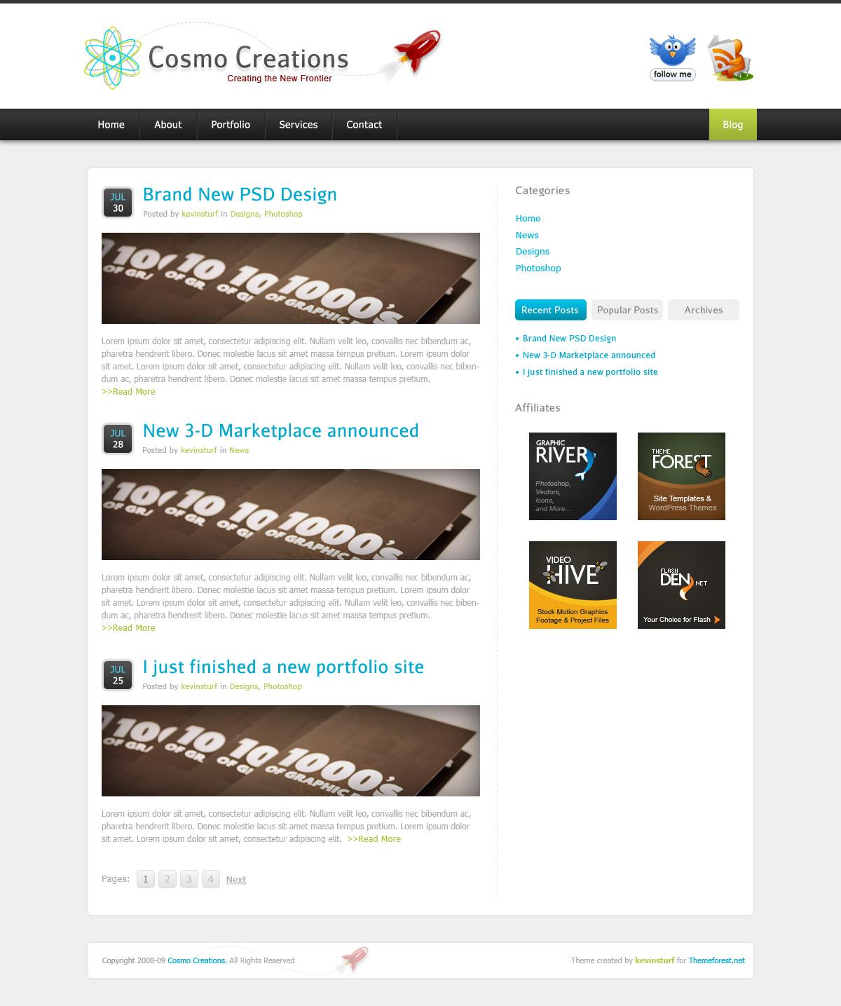 Cosmo Creations   Modern Portfolio & Business